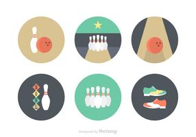 Kostenlose Flat Bowling Vector Icons