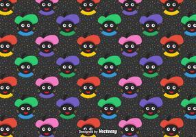 Free Seamless Zwarte Piet Vektor Muster