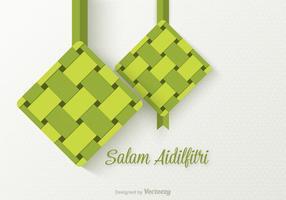 Gratis Salam Aidilfitri Vector Bakgrund