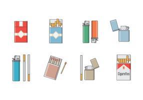 Gratis cigarettvektor vektor