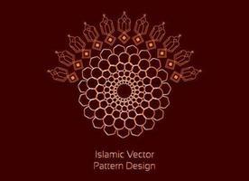 moderna biomorfa islamiska mönster
