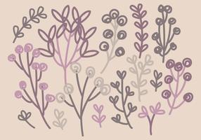 Vektor Hand gezeichnete Zweige