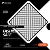 layout svart, vit fyrkantig social media banner mall