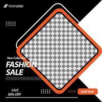 geometrische Diamant Social Media Banner Vorlage