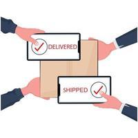 Online-Shopping und schnelles Lieferkonzept vektor