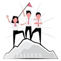 Männer und Frauen erzielen Erfolg vektor