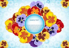 Pansy Blumen Vektor-Illustration vektor