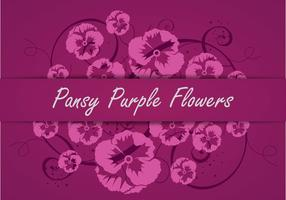 Pansy Lila Blumen Vector Silhouette