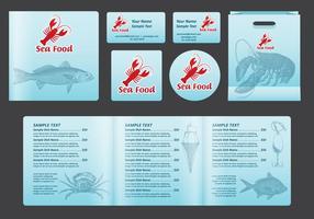 Meeresfrüchte-Platz-Menü vektor