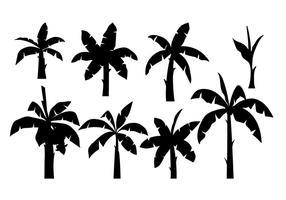 Banansträd Silhouette Vector