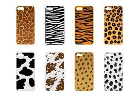 Telefon Fall Tier Textur Vektor