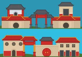 Kina Town Vector Illustration