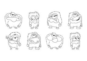 Gratis Cartoon Yeti Vector