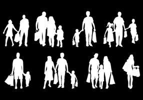 Kostenlose Familie Shopping Icons Vektor