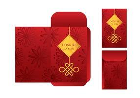 Free Red Packet Vorlage Vektor