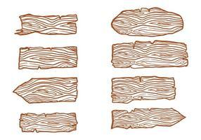Freie Holzstämme Zeichenvektoren