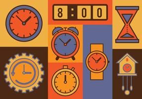 Zeit Vektor Icons Set