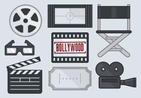 Bollywood filmikonen vektor