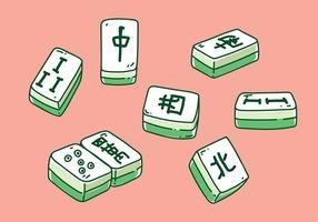 Mahjong handritad vektor