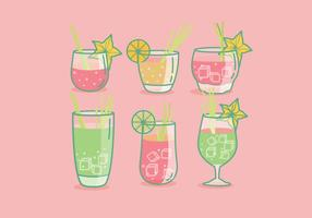 Citrongräs Drink Vector