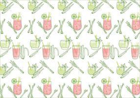 Zitronengras Muster Vektor