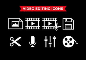 Videobearbeitung Icons Vector