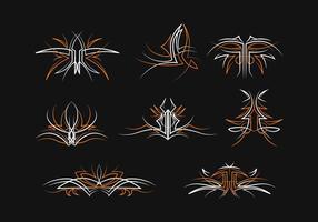 Gratis Pinstripes Vector Set