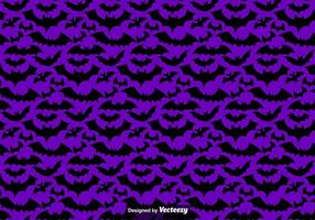 Vektor sömlösa mönster av svarta fladdermus Silhouettes