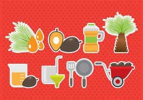 Palmöl Icons vektor