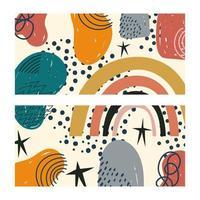 abstrakte und handgezeichnete zeitgenössische Formenschablone