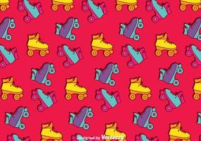 Retro Roller Skates Muster Hintergrund vektor