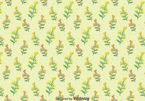 Mimose Blumen Nahtlose Muster vektor