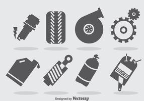 Turbo motor ikoner vektor
