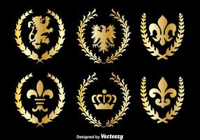 Kungligt kungariket symbol vektor
