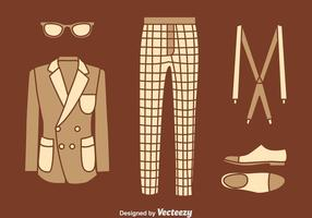 Classic Men Accursories Vector Set