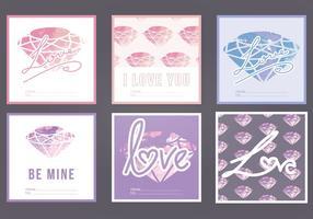 Vektor akvarell kärlek kort