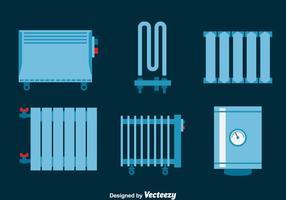 Uppvärmning Radiator Vector Set