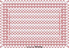 Red Keffiyeh Muster Vektor