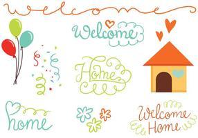 Kostenlose Willkommen Home Vektoren