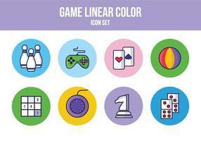 Freies Spiel Linear Icon Set vektor