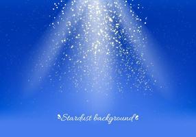 Blauer Vektor Stardust Hintergrund