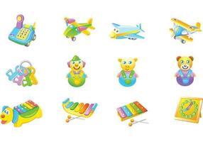Kinder Spielzeug Vektor Pack