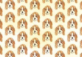Vektor vattenfärg hund mönster