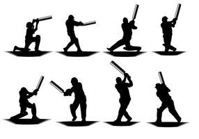 Gratis Cricket Player Vector