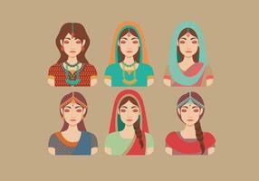 Indiska kvinnor vektor