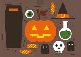 Kostenlose Vektor Halloween Icons