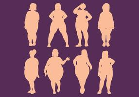 Gratis feta kvinnor ikoner vektor