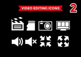 Videobearbeitung Icons Vector # 2