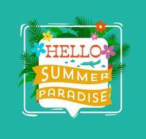 Hallo Sommer Typografie vektor