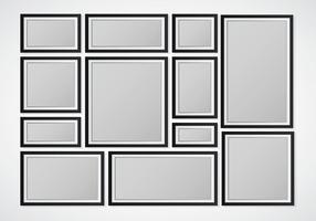 Zusammengesetzte leere Rahmen vektor
